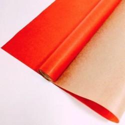 Крафт-бумага упаковочная вержированная однотонная Красная / рулон 70 см * 10 м, 40 гр/м.кв (Россия)