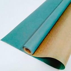 Крафт-бумага упаковочная вержированная однотонная Морская волна / рулон 70 см * 10 м, 40 гр/м.кв (Ро