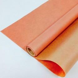 Крафт-бумага упаковочная вержированная однотонная Персиковая / рулон 70 см * 10 м, 40 гр/м.кв (Росси