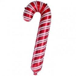Шар с клапаном (14''/36 см) Мини-фигура, Леденец трость, Красный, 1 шт.