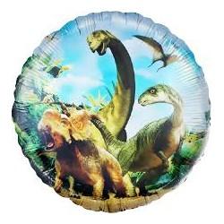 Шар Круг Динозавры Юрского периода 48см