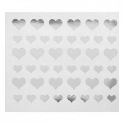 """Наклейка на полимерные шары """"Сердца"""", цвет серебро"""