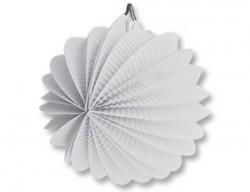 Фонарик бум круглый белый 25см/G