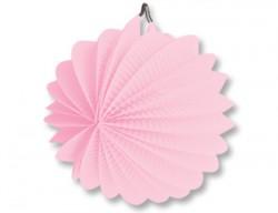 Фонарик бум круглый розовый 25см/G
