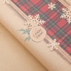 Бумага упаковочная Новогодняя 1 лист 70*100 см в ассортименте