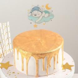 "Топпер на торт ""Сонный мишутка"" 13x8x0,1 см 4150226"
