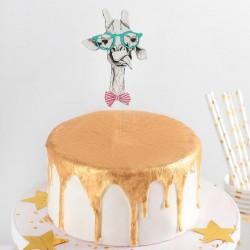 """Топпер на торт """"Улыбка жирафа"""" 14x6,5x0,1 см 4150224"""