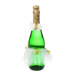 Одежда на бутылку, набор 2 предмета: юбочка, бантик, цвет белый 1380414