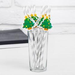 """Трубочки для коктейля """"Ёлочка"""" набор 10 шт"""