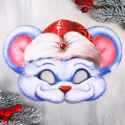 "Маска новогодняя ""Мышь Мороз"", 26 х 18,5 см"