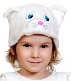 Маска Кошечка белая К 4097