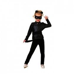 """Карнавальный костюм """"Супер Кот"""", водолазка, легинсы,пояс,маска,ушки, р.32, р122 499-122-64 2220281"""