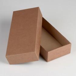 Коробка сборная без печати крышка-дно бурая без окна 24 х 11,5 х 4,5 см 4138426
