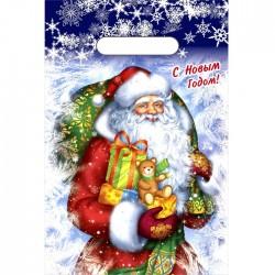 """Пакет """"Новогодняя метель"""". полиэтиленовый с вырубной ручкой. 20 х 30 см. 30 мкм. 3856204"""