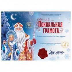 "Похвальная грамота ""Почта Деда Мороза"", 29,5х21 см 4457739"