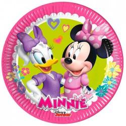 "P Тарелки 20 см ""Стильная Минни - 2"" / Minnie Happy Helpers / набор 8 шт. / (ЕС)"