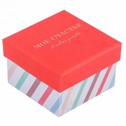 Подарочная упаковка Коробочка под кольцо «С Новым счастьем!», 5 х 5 х 3.5 см 3495056
