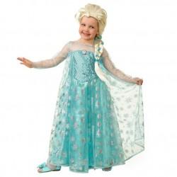 Карнавальный костюм Принцесса Эльза текстиль Батик р. 24 (86-92 см)
