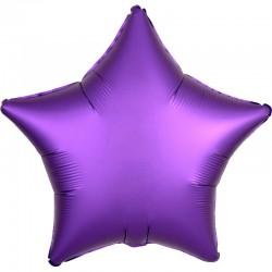 Шар Звезда Фиолетовый Сатин Люкс 46см