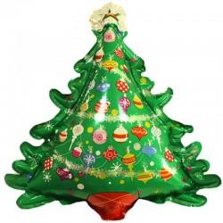 Шар (38''/97 см) Фигура, Новогодняя елка, 1 шт.