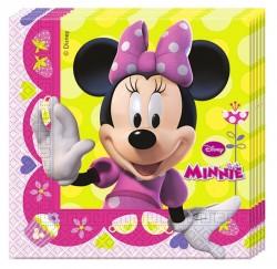"P Салфетки 33*33 см ""Стильная Минни"" / Minnie Bow-Tique / набор 20 шт. / (ЕС)"