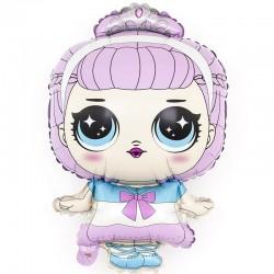 Шар с клапаном (14''/36 см) Мини-фигура, Модная кукла (маленькая принцесса), 1 шт.