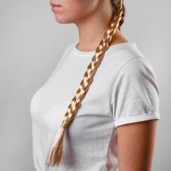 Коса на резинке 42 см, цвет русый 3909287