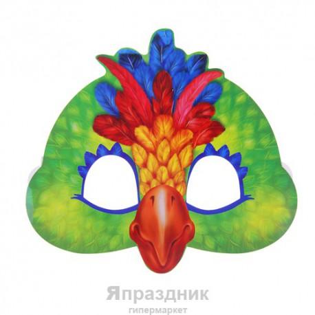 """Маска карнавальная """"Попугай"""", 19,9 х 18,1 см"""