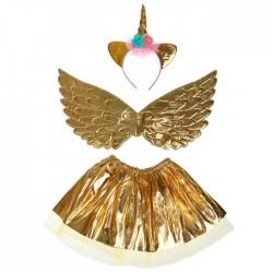 """Карнавальный набор """"Единорог"""" 3 предмета: ободок, крылья, юбка, цвет золото 4433494"""