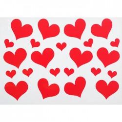 """Наклейка на полимерные шары """"Сердца"""", цвет красный"""