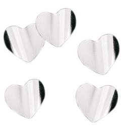 """Конфетти """"Сердца серебряные"""" фольгированные 3 см / 500 г / (Китай)"""