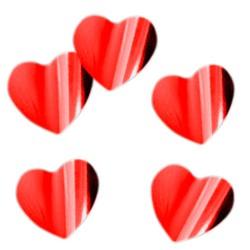"""Конфетти """"Сердца красные"""" фольгированные 3 см / 500 г / (Китай)"""