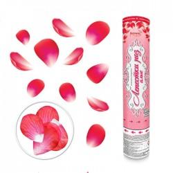 Пневмохлопушка Лепестки роз алые 30 см / 1 шт. / (Китай)