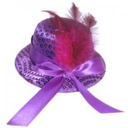 WB Шляпка заколка фиолетовая