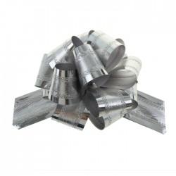 Бант-шар №5 полоска, серебро 848857