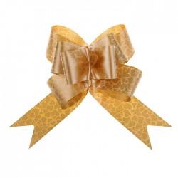 """Бант-бабочка №5 """"Сердца"""", цвет золотистый 1149754"""