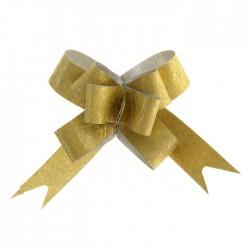 Бант-бабочка №1,2 блестящая фактура, золотой 1020414