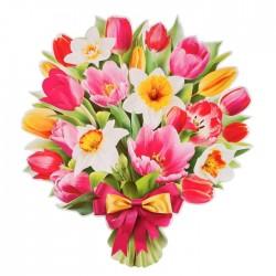 """Плакат """"8 Марта"""" вырубка, цветы, 30 х 40 см 4775012"""