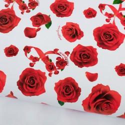 Бумага упаковочная глянцевая «Розы», 70 × 100 см 2887319