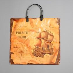 """Пакет """"Пиратский клуб"""", полиэтиленовый с пластиковой ручкой, 37х34 см, 80 мкм 4152142"""