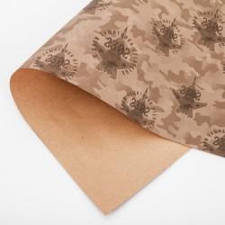 Бумага упаковочная крафтовая «Самолеты», 50 × 70 см 3735721