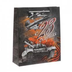 Пакет ламинированный вертикальный «Железная воля», M 26 × 30 × 9 см 3639773