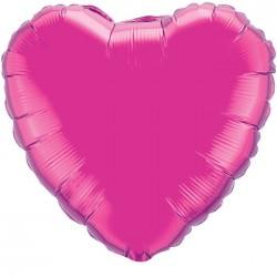 Шар Сердце Лиловый 23 см