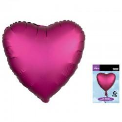 Шар Сердце Гранат Сатин Люкс 46 см