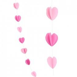 """Гирлянда 2,1 м """"Сердца Микс"""" Розовый и нежно-розовый / 1 шт. / (Китай)"""