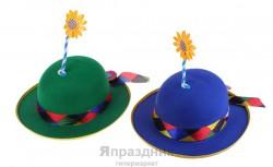 Карнавал шляпка ромашка на стебле два цвета