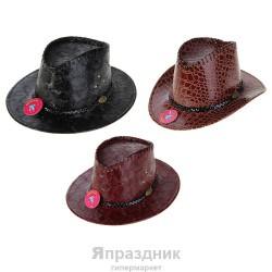 Шляпа ковбой для девушки с тесьмой три цвета