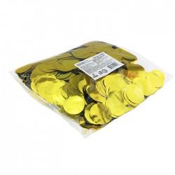 """Конфетти """"Круги золотые"""" фольгированные 1 см / 500 г"""