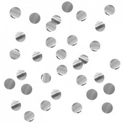 """Конфетти """"Круги серебряные"""" фольгированные 1 см / 500 г"""