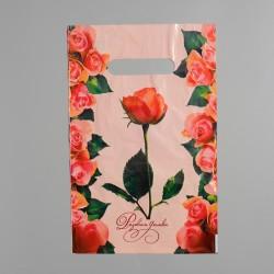 """Пакет """"Розовая дымка"""", полиэтиленовый с вырубной ручкой, 20х30 см, 30 мкм 1464459"""